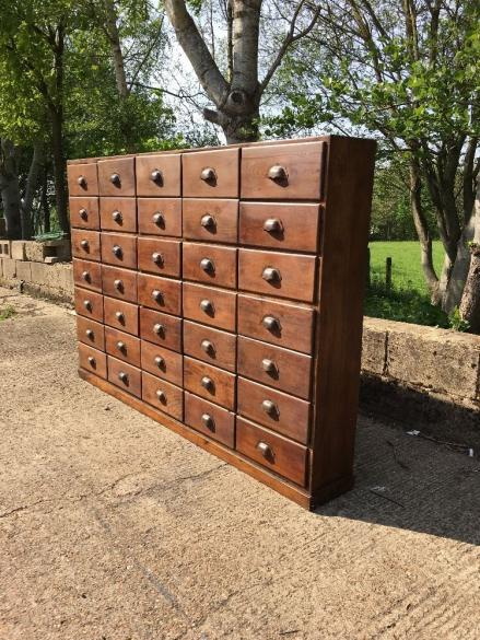 WOLFE ANTIQUES BANK OF DRAWERS INDUSTRIAL FURNITURE WEST SUSSEX