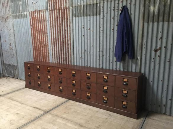 Antique Bank of pharmacy drawers, Vintage bank of drawers, industrial bank of drawers