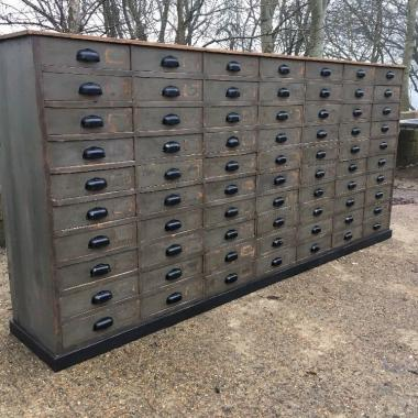 Antique apothecary bank of drawers Shop Counter
