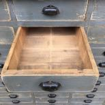ANTIQUE BANK OF APOTHECARY DRAWERS ANTIQUE BANK OF DRAWERS ANTIQUE MULTI DRAWERS