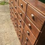 APOTHECARY DRAWERS ANTIQUE CHEMIST DRAWERS VINTAGE BANK OF DRAWERS WOLFE ANTIQUES