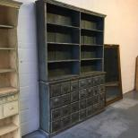 antique bank of  apothecary drawers antique shop fitting